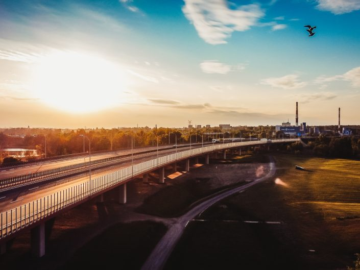 Gliwice (okolice DTŚ) z drona