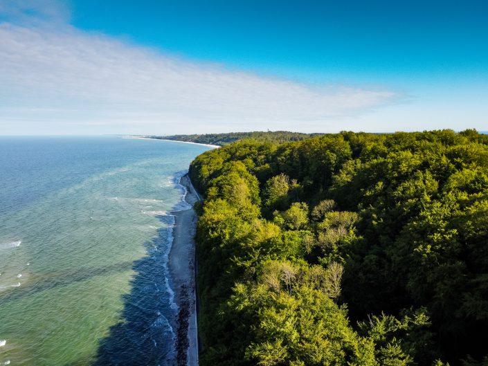 Morze Bałtyckie - plaża Rozewie z drona