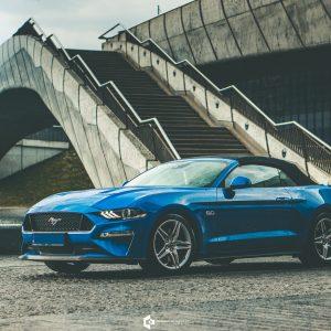 Ford Mustang GT 5.0 Cabrio Velocity Blue | Grzegorz Kozłowski fotografia motoryzacyjna Gliwice, Śląsk