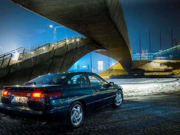 Subaru SVX night photo | Grzegorz Kozłowski zdjęcia samochodów Gliwice, Śląsk